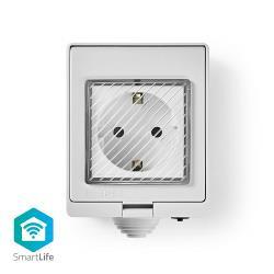 Nedis WIFIPO10FWT Wi-Fi Smart Stopcontact voor Buiten | Weersbestendig | IP55 | 16 A