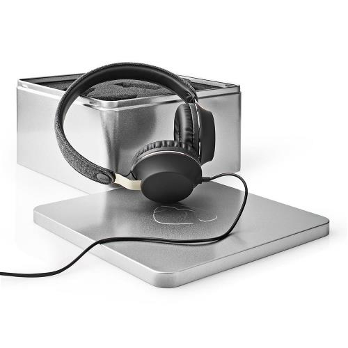 Nedis FSHP100AT Bedrade Koptelefoon met Geweven Stof Bekleed   On-Ear   Audiokabel 1,2 m   Antraciet / Zwart