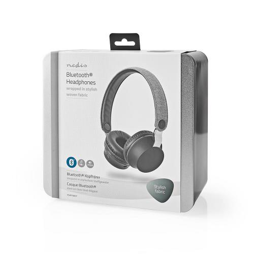 Nedis FSHP150GY Bluetooth®-Koptelefoon met Geweven Stof Bekleed | On-Ear |18 Uur Afspeeltijd | Antraciet / Zwart