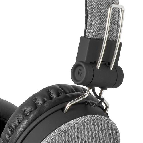 Nedis FSHP200GY Bedrade Koptelefoon met Geweven Stof Bekleed | On-Ear | Audiokabel 1,2 m | Grijs / Zwart
