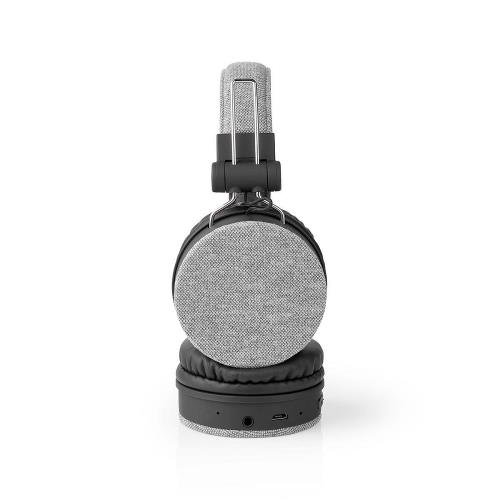 Nedis FSHP250GY Bluetooth®-Koptelefoon met Geweven Stof Bekleed   On-Ear  18 Uur Afspeeltijd   Grijs / Zwart