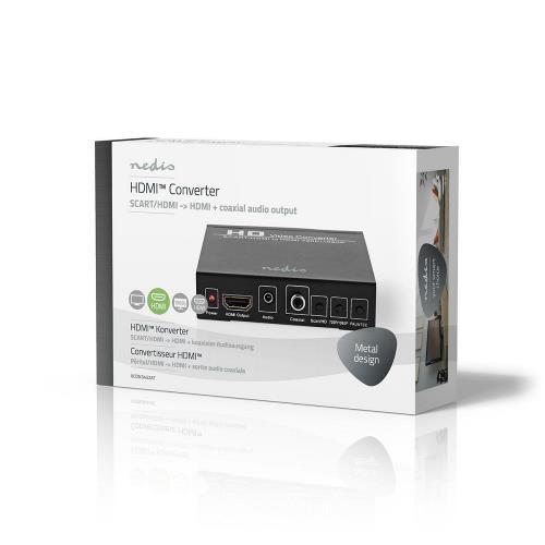 Nedis VCON3452AT SCART-naar-HDMIT-Converter   1-Wegs - SCART-Ingang   HDMIT-Uitgang
