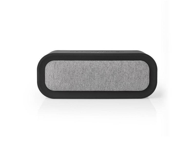 Nedis FSBS100GY Bluetooth®-Speaker met Geweven Stof Bekleed | 30 W | Tot 6 Uur Speeltijd | Waterdicht | Grijs / Zwart