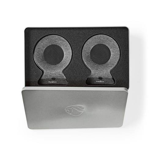Nedis FSBS120AT Bluetooth®-Speaker met Geweven Stof Bekleed | 2x 15 W | Tot 4 Uur Speeltijd | True Wireless Stereo (T...