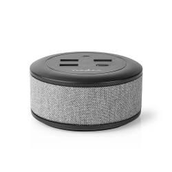 Nedis FSCSPD100GY Stoffen Tafellader voor het Hele Gezin | 3x USB 2.1 A (Max.) | 1x USB C™ 30 W PD | Grijs