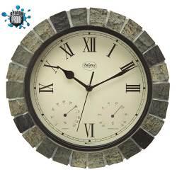 Balance 776354 Balance   Wall Clock   Splash Proof   30 cm   Stone Look