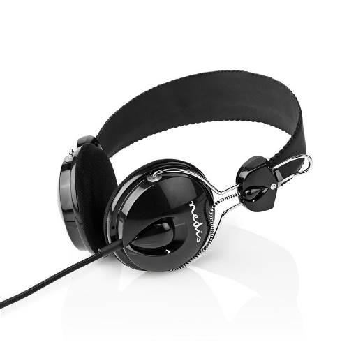 Nedis HPWD1104BK Bedrade Koptelefoon | 1,1 m Ronde Kabel | On-Ear | Opvouwbaar | Zwart