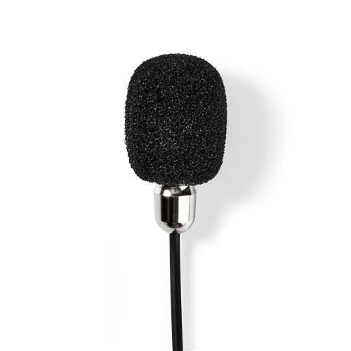 Nedis MICCJ105BK Bedrade Microfoon | Clip-On | Lavalier | 3,5 mm | Metaal