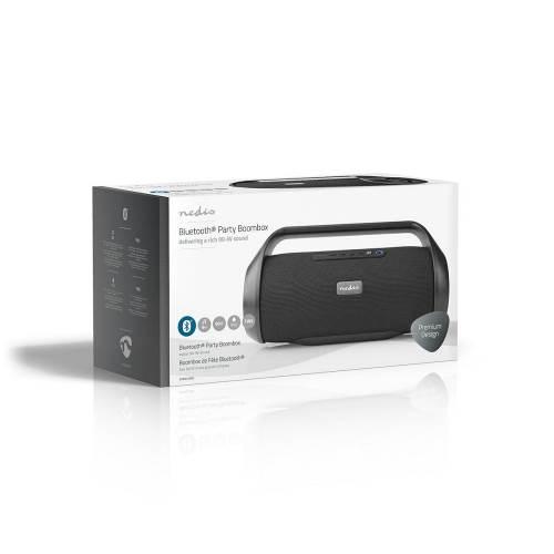 Nedis SPBB320BK Party-Boombox | 12 Uur Speeltijd | Bluetooth® | TWS | Handvat | Zwart