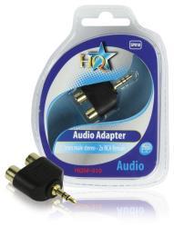HQ HQSP-010 Audio adapter 3.5mm mannelijk stereo - 2x RCA vrouwelijk