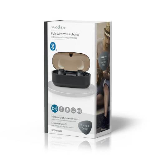 Nedis HPBT5052BK Volledig draadloze Bluetooth®-oordopjes | 5 Uur afspeeltijd | Spraakbediening | Draadloos Oplaadbare...