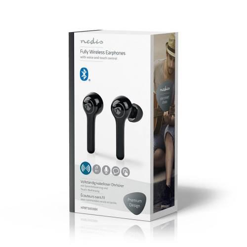 Nedis HPBT5055BK Volledig draadloze Bluetooth®-oordopjes | 6 uur afspeeltijd | Spraakbediening | Aanraakbediening | C...