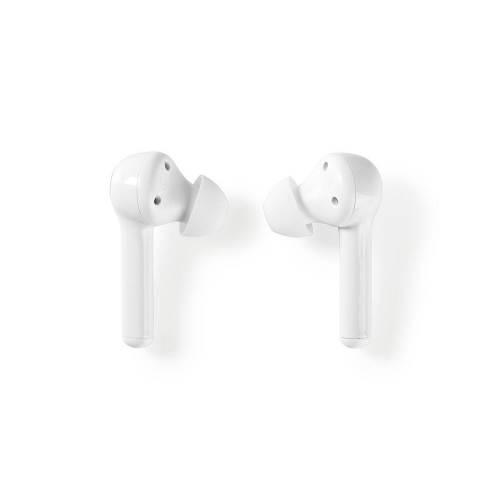 Nedis HPBT5055WT Volledig draadloze Bluetooth®-oordopjes | 6 uur afspeeltijd | Spraakbediening | Aanraakbediening | C...