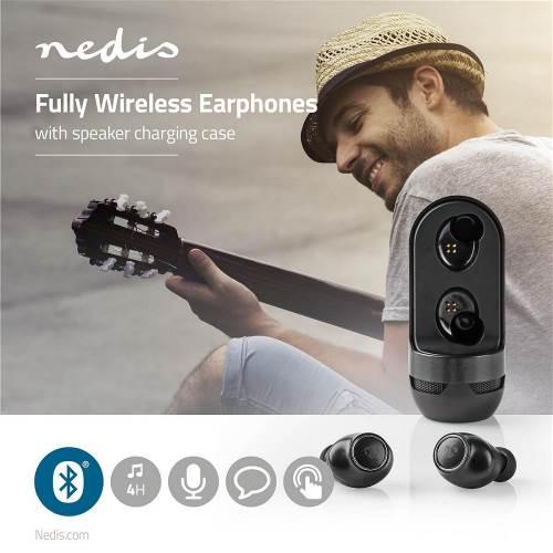 Nedis HPBT6050BK Volledig draadloze Bluetooth®-oordopjes | 4 uur afspeeltijd | Spraakbediening | Aanraakbediening | S...