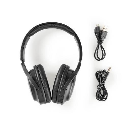 Nedis HPBT1201BK Wireless Headphones   Bluetooth®   Over-ear   Black