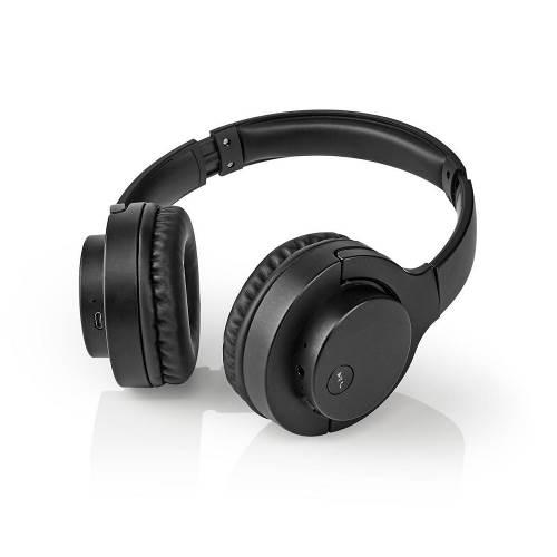 Nedis HPBT2160BK Draadloze koptelefoon | Bluetooth ® | Op het oor | Opvouwbaar | Ruisonderdrukking | Zwart