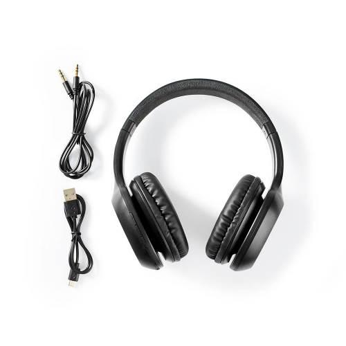 Nedis HPBT1200BK Draadloze Koptelefoon | Bluetooth® | Over-Ear | Zwart