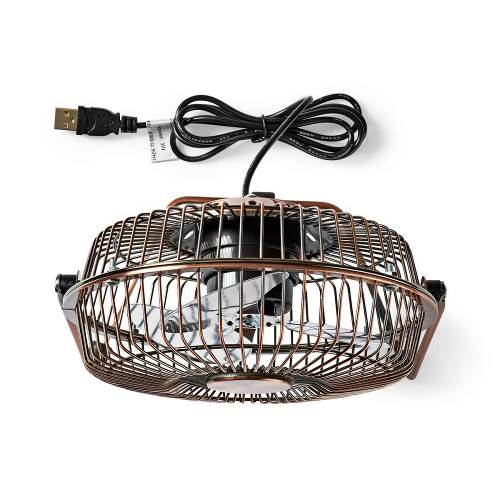 Nedis FNDK1CO15 Metalen Miniventilator   15 cm Diameter   USB-Voeding   Koper