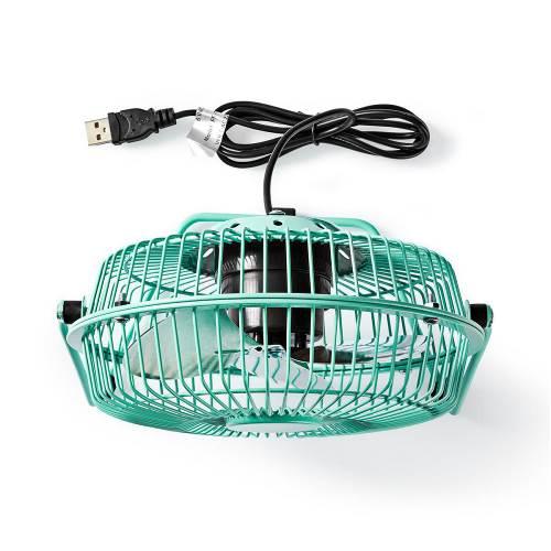 Nedis FNDK1TQ15 Metalen Miniventilator | 15 cm Diameter | USB-Voeding | Turquoise