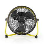 Nedis FNFL11FYW30 Vloerventilator Industrieel Design | Diameter 30 cm | 3 Snelheden | Geel / Zwart