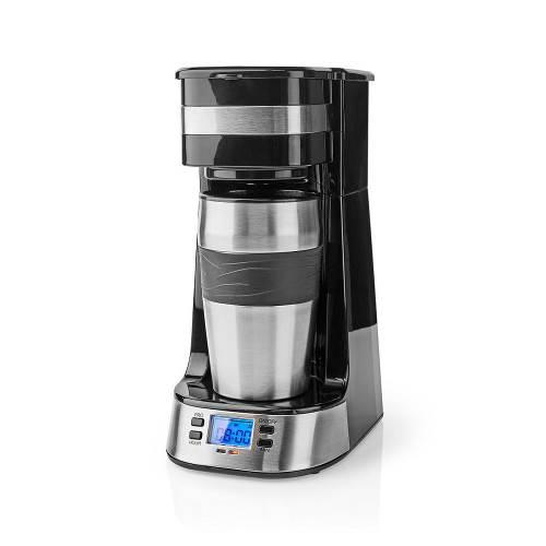 Nedis KACM310FBK 1-Kops Koffiezetapparaat | Dubbelwandige Reisbeker | 0,42 L | Timer
