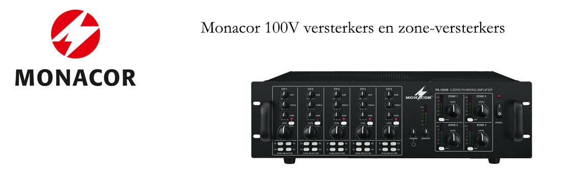 Monacor 100V versterkers en Zone-systemen